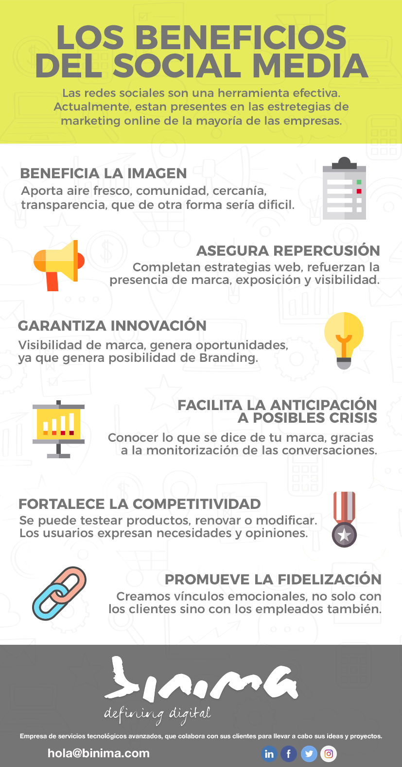 Beneficios del Social Media